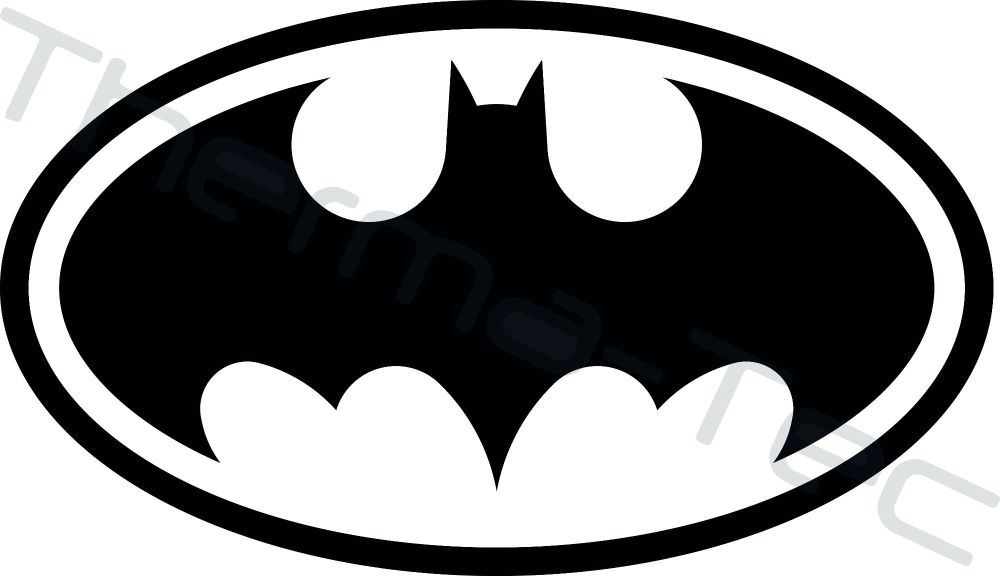 Batman Bat Logo vinyl decal