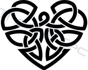 Celtic Heart vinyl decal