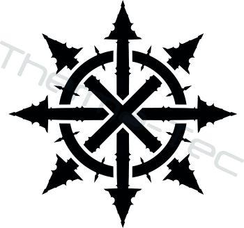 Chaos symbol vinyl decal