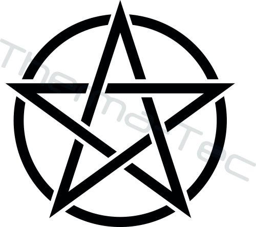 Pentagram vinyl decal