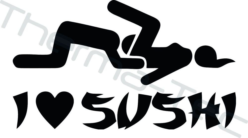 JDM I Love Sushi Vinyl Decal