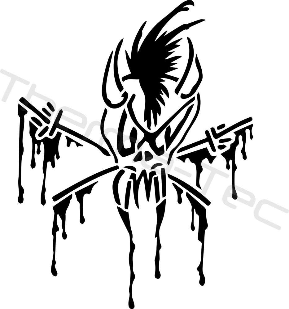 Metallica Scary Guy vinyl decal
