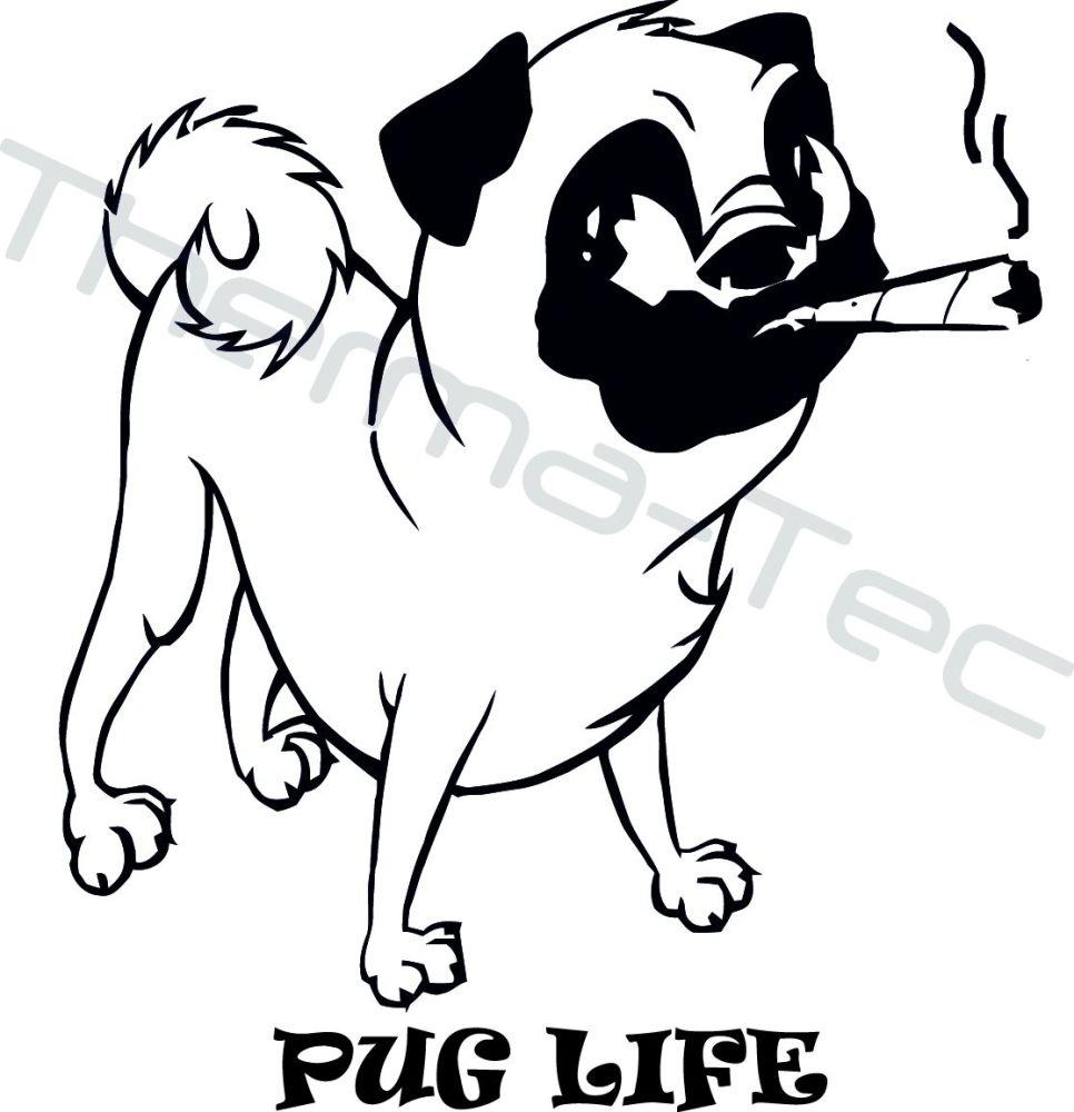 Pug Life vinyl decal