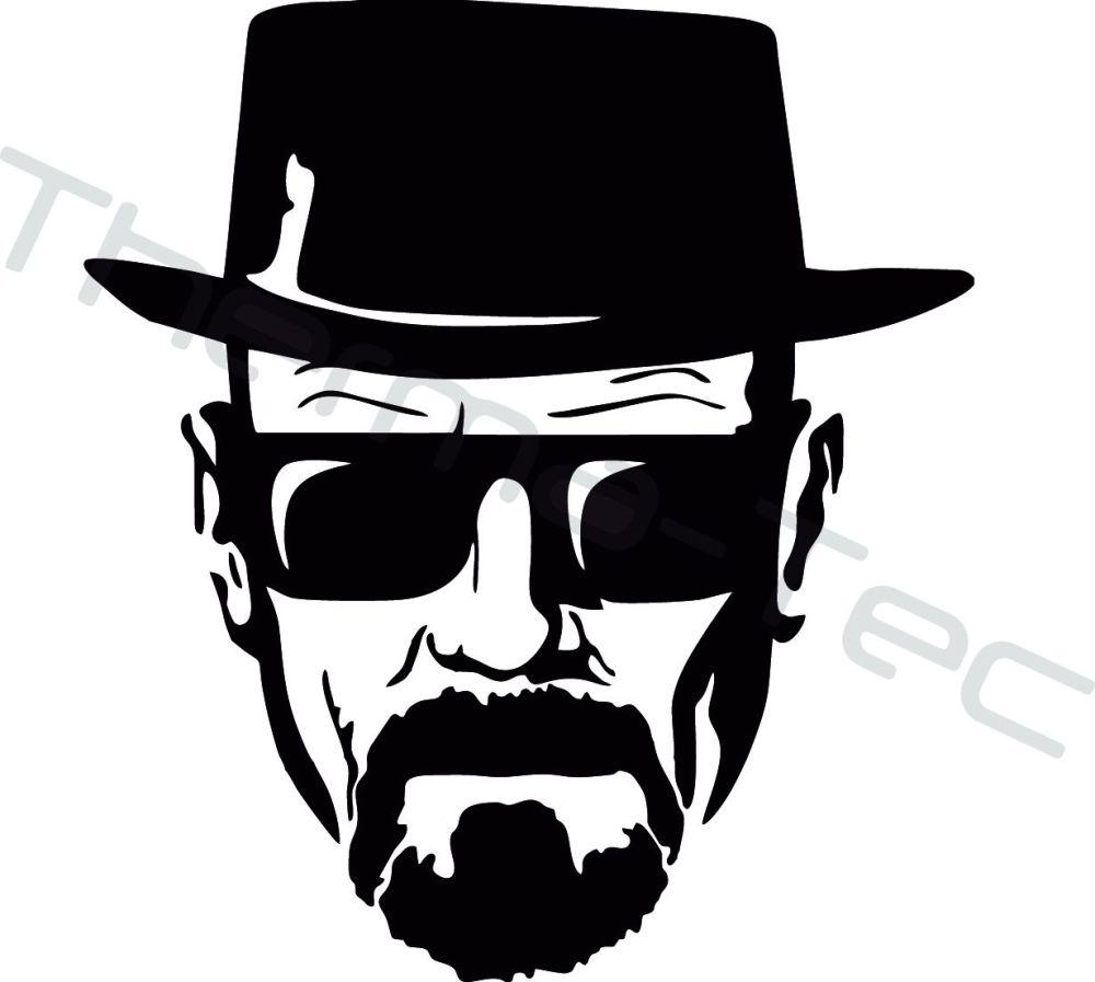 Breaking Bad Heisenberg Walter White vinyl decal