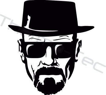 Breaking Bad Heisenberg Walter White vinyl decal
