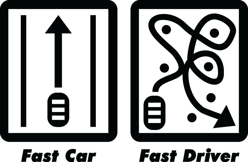 JDM FAST CAR, FAST DRIVER VINYL DECAL