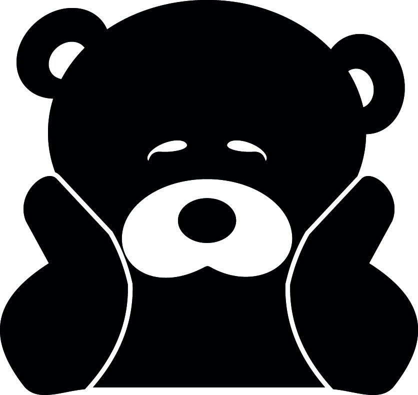 JDM CUTE BEAR VINYL DECAL