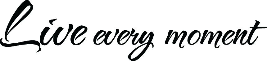 JDM LIVE EVERY MOMENT VINYL DECAL