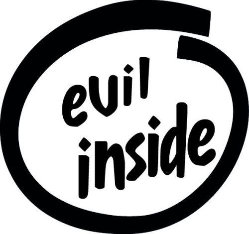 Evil Inside vinyl decal