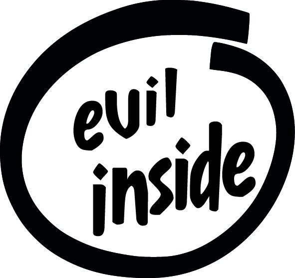 Evil Inside vinyl decal