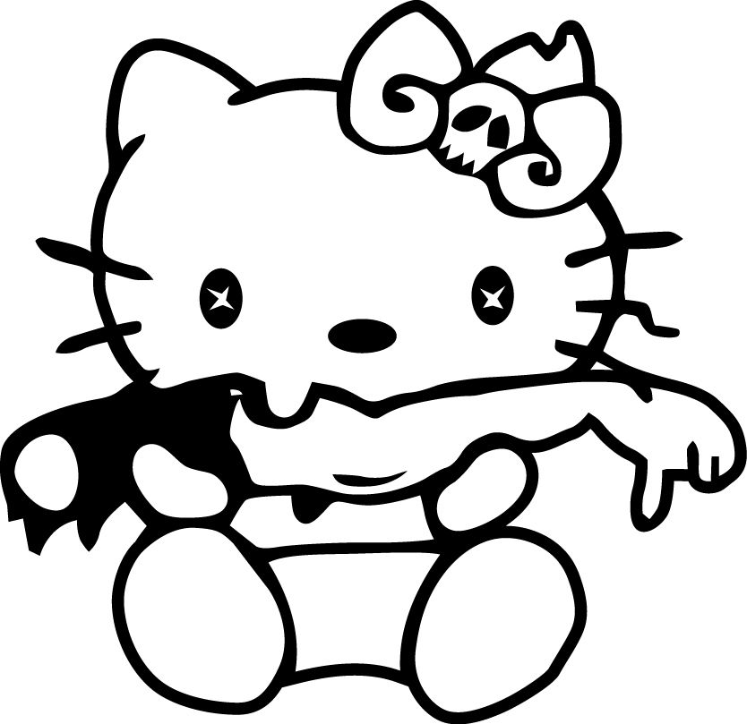 JDM HELLO KITTY VINYL DECAL