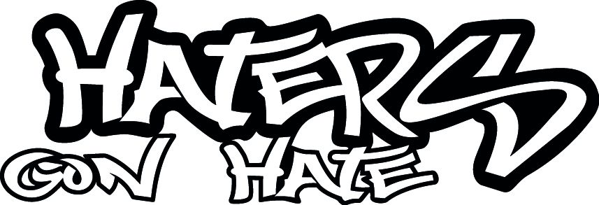 JDM HATERS GON HATE VINYL DECAL