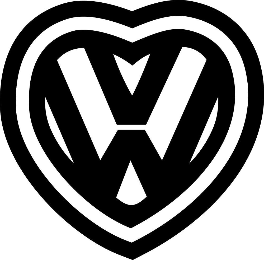 VW HEART VINYL DECAL