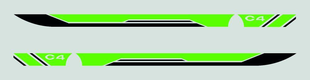 Citroen C4 Door Vinyl Stickers (both sides)