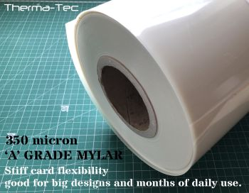 MYLAR 350 micron sheet, 600mm wide per linear meter