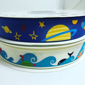 Sea and Space themed ribbons