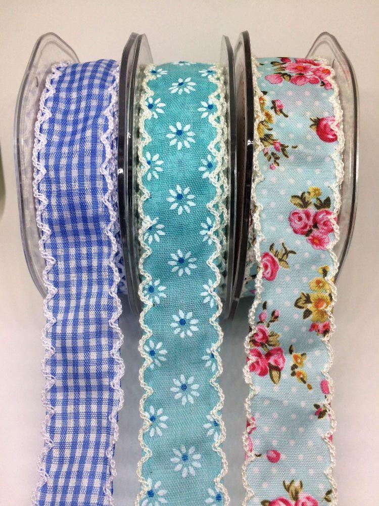Crochet edged pretty ribbon