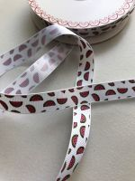 Watermelon grosgrain ribbon