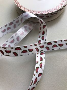 Watermelon grosgrain ribbon