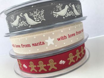 Christmas ribbons  SALE NOW 55P PER METER