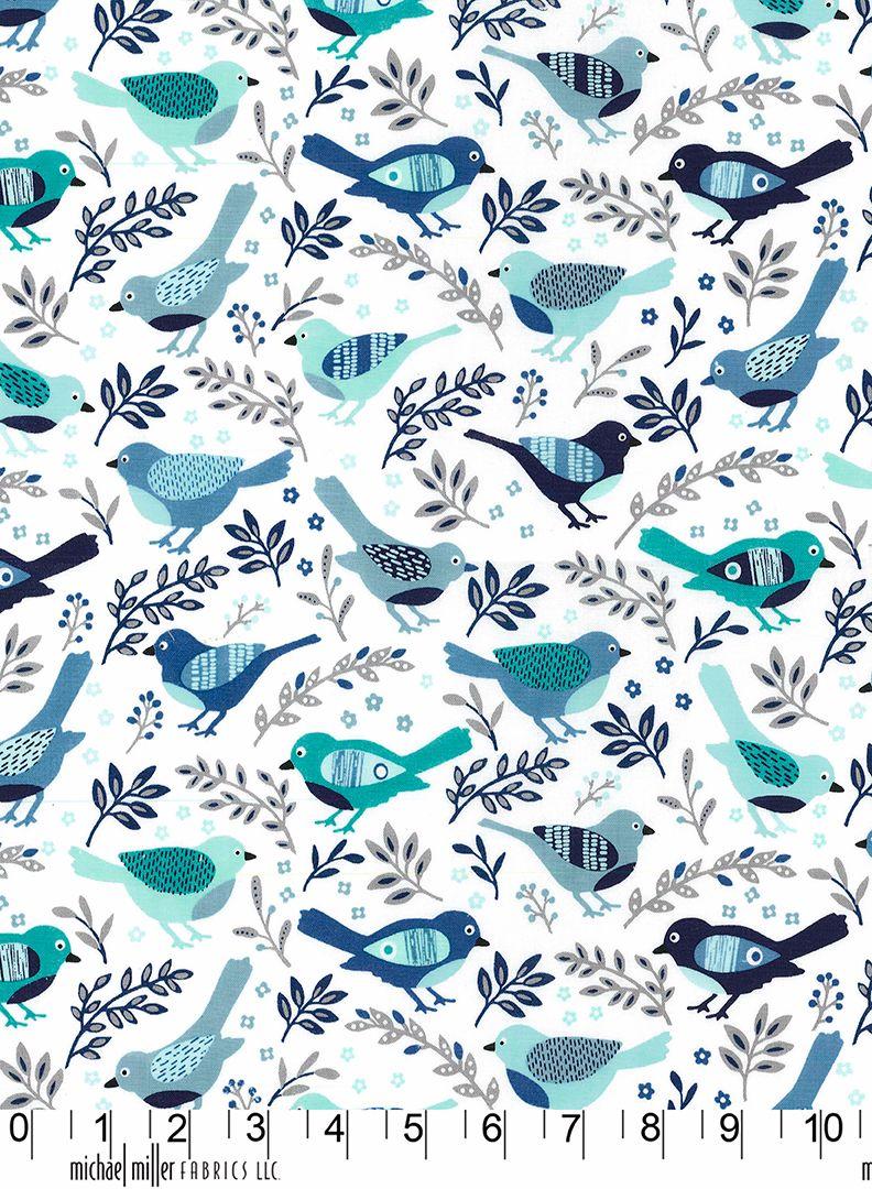 Happy bird Michael Miller fabric