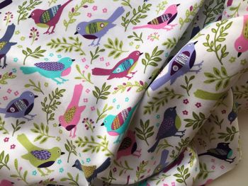 Happy bird fabric - Available in Blues or pinks