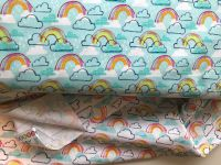 Michael Miller Rainbow Jubilee fabric - Available in Aqua or White