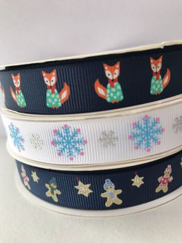 Christmas grosgrain ribbons SALE NOW 55P PER METER