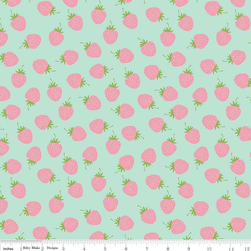 Sweet as Strawberries - available in White and mint green