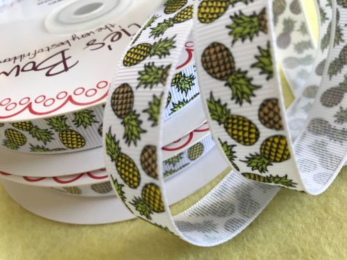 NEW Tropical Pineapple - Grosgrain ribbon