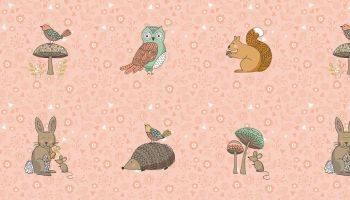 Doodle days Forest Animals - Pink - Makower