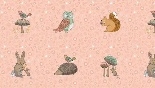 Doodle days Forest Animals - Pink - Makower