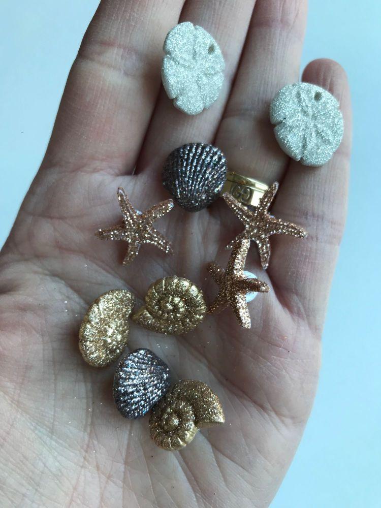 Glitter shell button packs, Dress it up