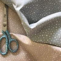 Scatter Star fabric - makower