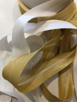 Metallic Bias Binding - Available in Gold or Snow-White
