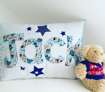 Name cushion, personslised, new baby, christening gift, nursery inspiration