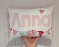 Girls Personalised name cushion