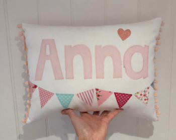 Girls Personalised name cushion