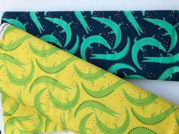 Crocodile Fabric - Michael Miller Everglades range