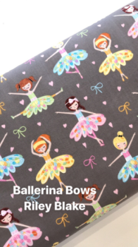 Ballerina and bows - Michael Miller designs