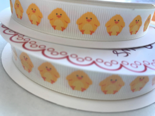 Easter Chick grosgrain ribbon