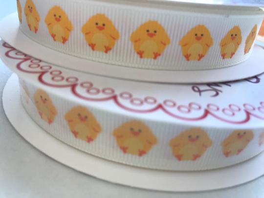 Easter Chick grosgrain ribbon