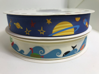 Fun Space and sea themed Grosgrain ribbons