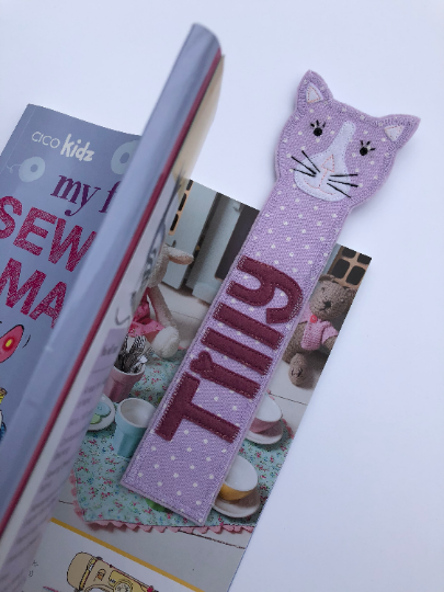 Cat bookmark - fun gift idea