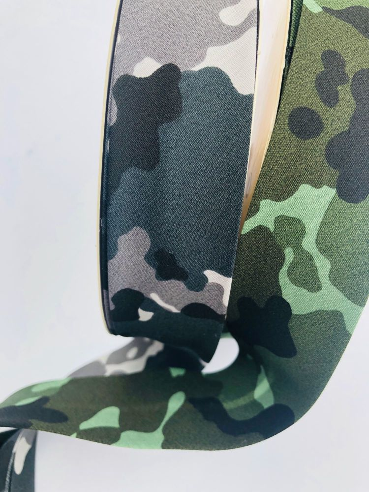 camouflage 30mm bias binding