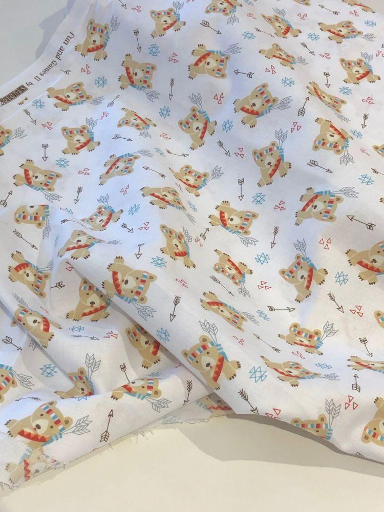 Camping Bears fabric