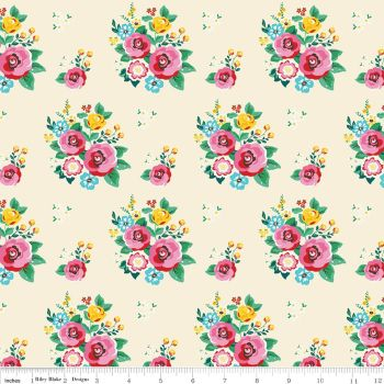 Pretty Cottage Rose 100% cotton - Riley Blake