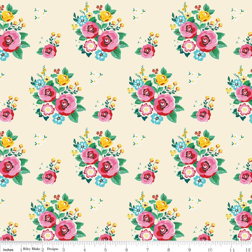 Pretty Cottage Rose 100% cotton - Riley Blake