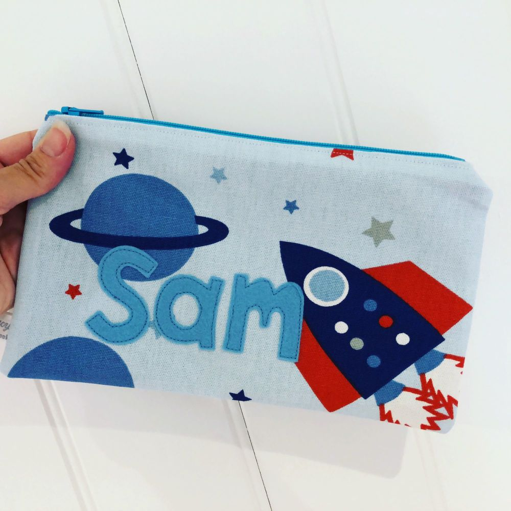 Handmade personalised pencil case
