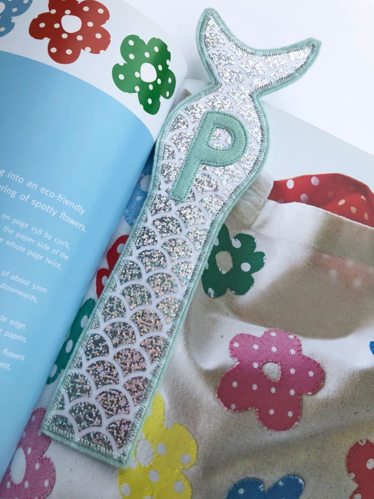 Mermaid Initial only Bookmark